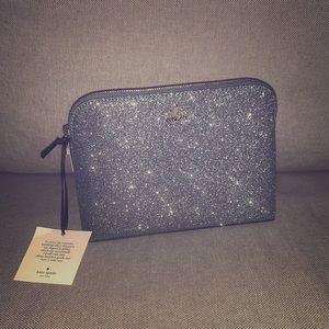 Kate Spade Glitter Cosmetic Case